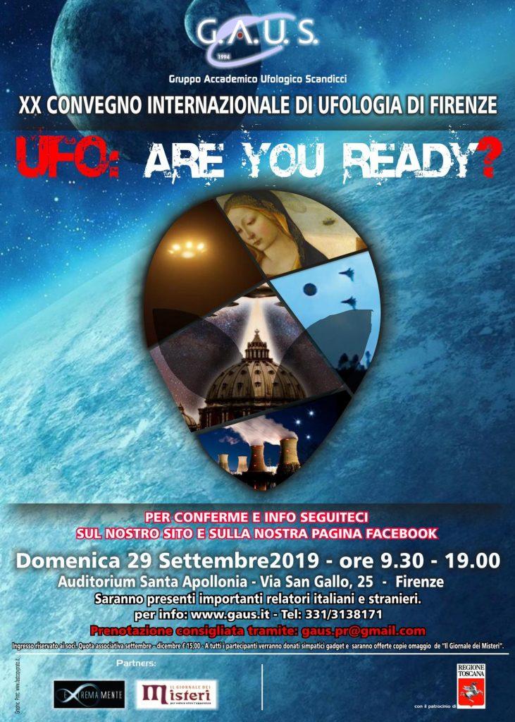 XX Convegno Internazionale di Ufologia di Firenze